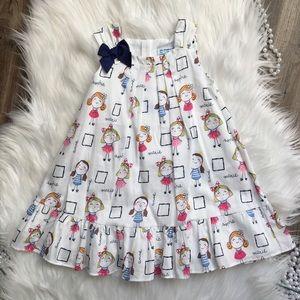 Mayoral Girls Doodle print dress